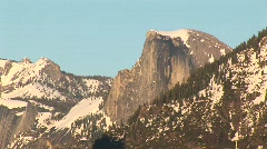 Long-shot of Half Dome in Yosemite National Park Stock Footage