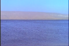 The Sea of Galilee stretches into the distance. Stock Footage