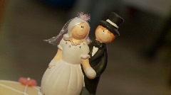 Wedding Couple Figure Stock Footage