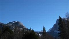 Yosemite Falls in Yosemite National Park, California Stock Footage