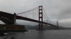Golden Gate Bridge on a foggy day - stock footage