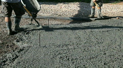 Pouring concrete boots P HD 78 Stock Footage