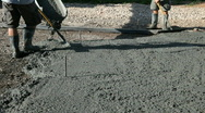 Stock Video Footage of Pouring concrete boots P HD 78