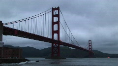 Golden Gate Bridge in San Francisco Bay Stock Footage