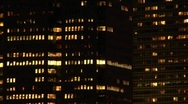 The camera zooms in and out of the New York skyline and utilizes Stock Footage