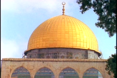 Tourists visit the Dome of the Rock in Israel. Stock Footage