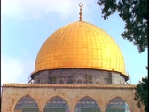 Stock Video Footage of Tourists visit the Dome of the Rock in Israel.