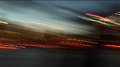 Buildings, lights, South Street Seaport, the Empire State Building Stock Footage