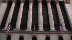 A worms-eye view of the exterior of the Stock Exchange Building Stock Footage