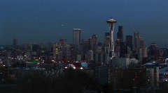 Seattle's landmark Space Needle Stock Footage