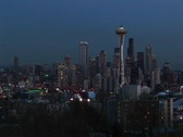 Stock Video Footage of Seattle's landmark Space Needle