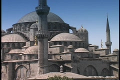 The Blue Mosque rises above Istanbul, Turkey. Stock Footage