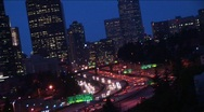 Stock Video Footage of Downtown Seattle buildings with heavy traffic