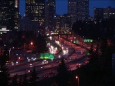 Stock Video Footage of A look at downtown Seattle at rush hour