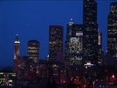 Stock Video Footage of Long-shot of the Seattle skyline at night