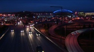 Stock Video Footage of Traffic drives on Seattle's freeways