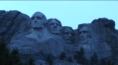 Mt Rushmore looks blue in this low light footage Stock Footage