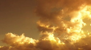 Stock Video Footage of Sunset time-lapse clouds