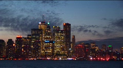 Long shot of the Detroit skyline. Stock Footage