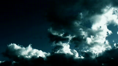 Time-lapse stormy green clouds Stock Footage