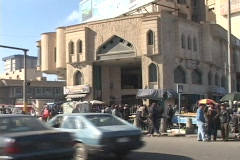 The streets of  Baghdad are filled with people. - stock footage