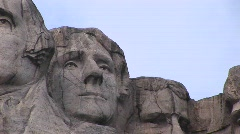 Thomas Jefferson is featured in this close-up of Mt Rushmore Stock Footage