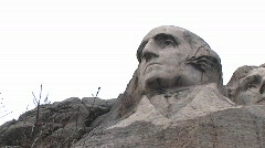 The granite face of George Washington at Mt Rushmore Stock Footage
