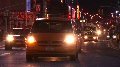 The on-coming traffic never seems to stop in New York City. Stock Footage