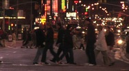 Traffic and pedestrians each take their turn. Stock Footage