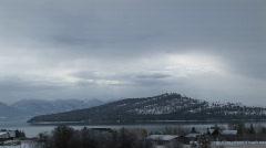 A serene portrait of a wintery landscape Stock Footage