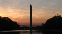 Colors in the sky intensify around the Washington Monument, Stock Footage