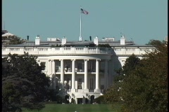 Trees surround the White House in Washington DC Stock Footage