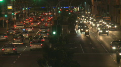 nightime rushhour traffic - stock footage