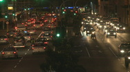 Stock Video Footage of nightime rushhour traffic