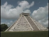 Stock Video Footage of El Castillo Pyramid belongs to the Chichen Itza ruins in Mexico.