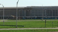 Pan-right of the Pentagon Building and Freeway. Stock Footage