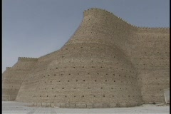 The ancient palace of the Emir adorns the blue sky in Bukhara, Uzbekistan. Stock Footage