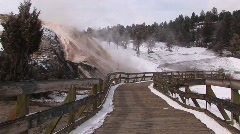A number of hot springs in Yellowstone National Park Stock Footage