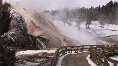 Geothermal area in Yellowstone National Park, Wyoming Stock Footage