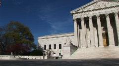 Yleiseurooppalainen varrella Yhdysvaltain korkeimman oikeuden rakennuksen ja per Arkistovideo