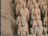 Stock Video Footage of Terracotta soldiers adorn a mausoleum made by  Emperor Qin Shi Huang.