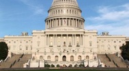 Panning up on the U.S. Capitol building in Washington, DC from Stock Footage