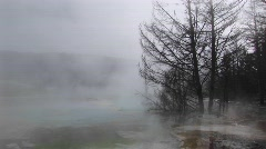 A thermal-pool in Yellowstone National Park, Wyoming Stock Footage
