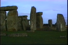 Close view of the Stonehenge monument. Stock Footage