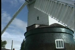 A close view of the sails on the Wrawby Postmill. Stock Footage