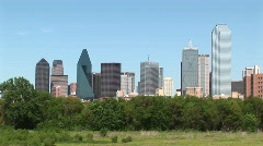 Pan-right of the Dallas, Texas skyline. Stock Footage