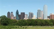 Stock Video Footage of Pan-right of the Dallas, Texas skyline.