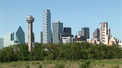 Medium-shot of the Dallas, Texas downtown skyline. Stock Footage