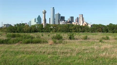 The skyscrapers rise high above the city of Dallas, Texas. Stock Footage
