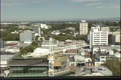 A birds-eye view of Christchurch, New Zealand. Stock Footage